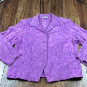 Dressbarn Woman pinkish purple blazer 1X